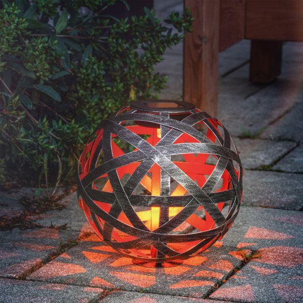 Design-Solarkugel Bahira 18 cm aus Metall