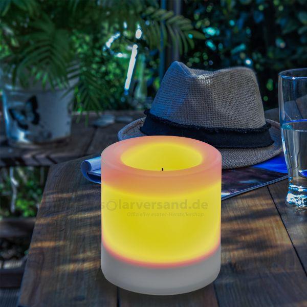 Solar LED-Kerze Ella 100 x 100 mm