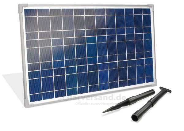 Solarmodul 25Wp 18V Stecker 2-polig groß inkl. Halterung