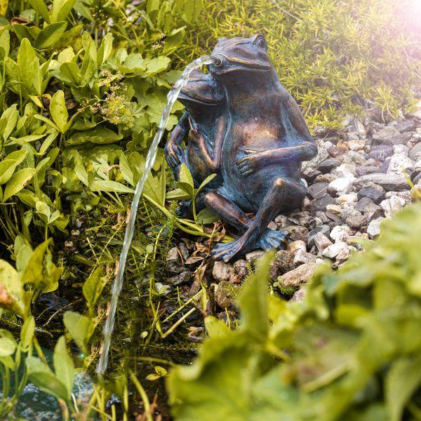 Solarbetriebenes Wasserspeier-Set Froschpaar