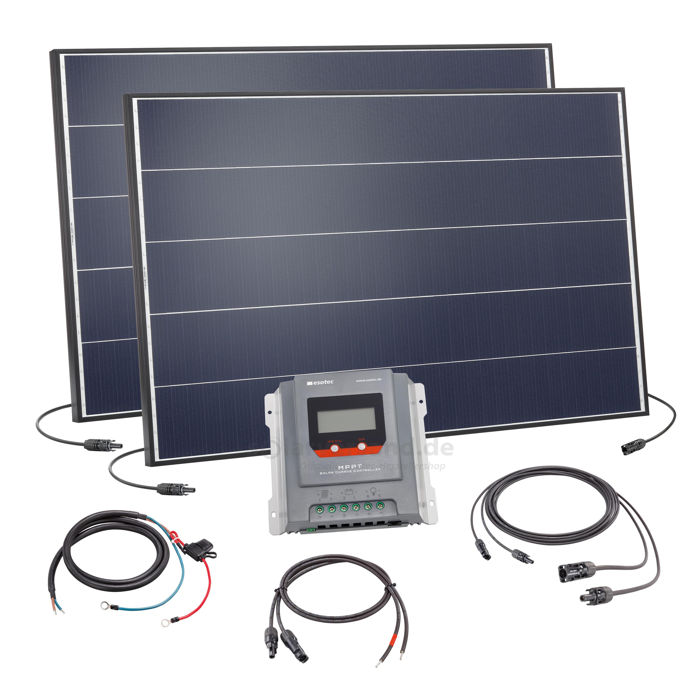 pv solar inselanlage 250wp 12v mppt. Black Bedroom Furniture Sets. Home Design Ideas