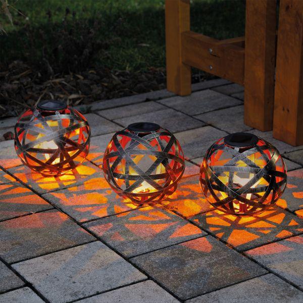 Deko-Solarkugeln Bahira 18 cm im 3er-Set