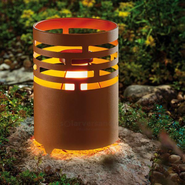 Rostfarbene Solar Feuerstelle Ottawa