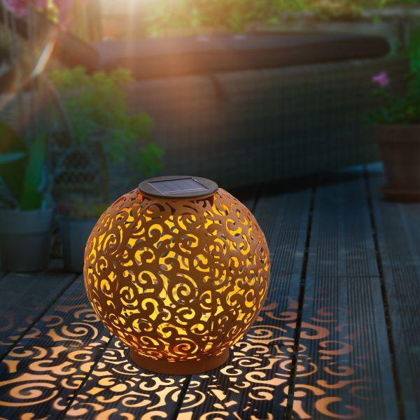 Solar-Kugelleuchte Samira 20 cm aus Metall