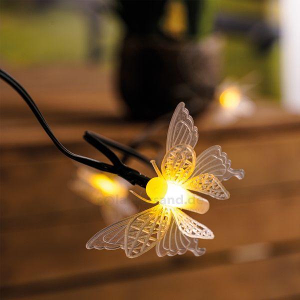 Solar Deko-Lichterkette mit Schmetterlingen