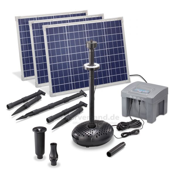 Solar Teichpumpenset 150/4000 LED Professional proBatt