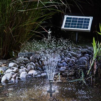 Solar Soringbrunnen mit Akkuspeicher und LED Licht