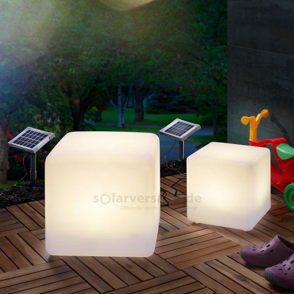 Solar Leuchtwürfel 2er Set 30 und 40 cm
