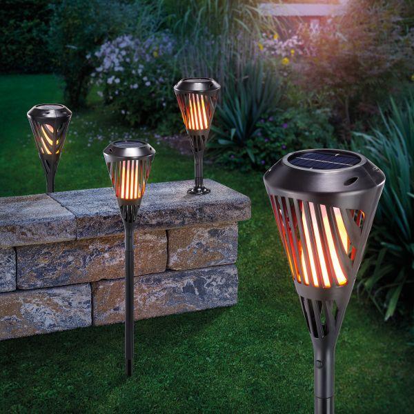 Solar-Fackel Rhodos mit Flammeneffekt 4er Set