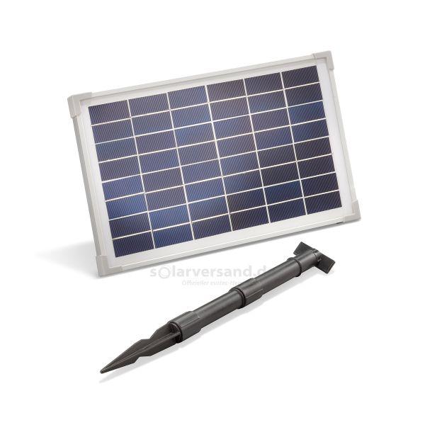 Solarmodul 12Wp 12V Stecker 2-polig klein inkl. Halterung