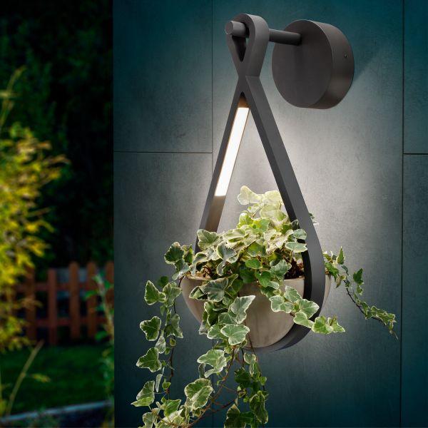 LED Außenwandleuchte FlowerLine mit Pflanzschale