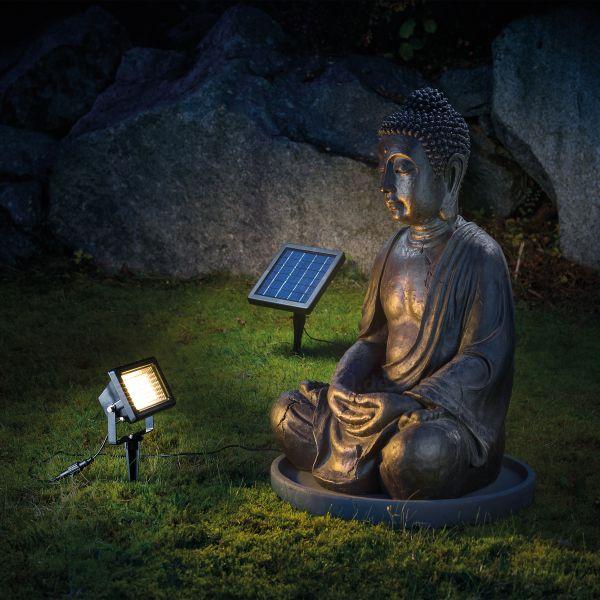 Solar LED Außenstrahler warmweiß