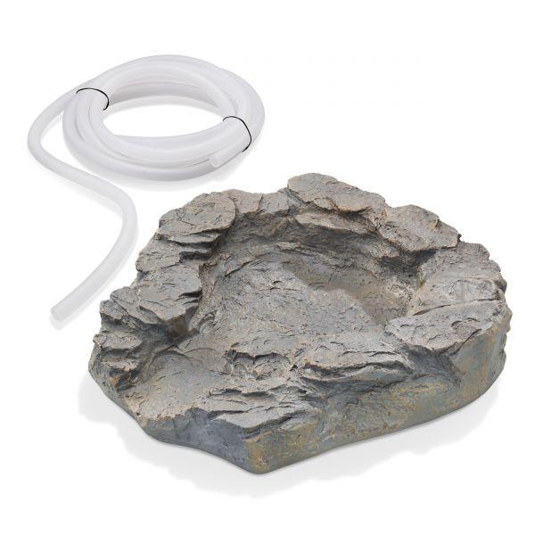Obere Bachlaufschale grau mit 3 m Schlauch