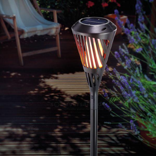 Solar-Fackel Rhodos mit Flammeneffekt