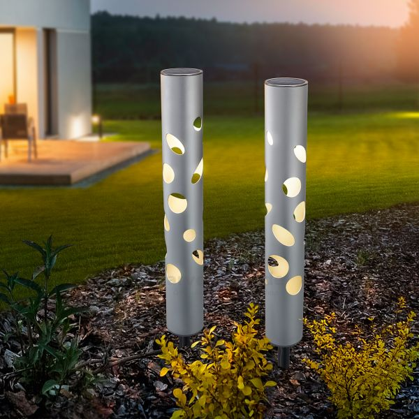 Solarleuchten 2er Set Fantasy Light Duo color