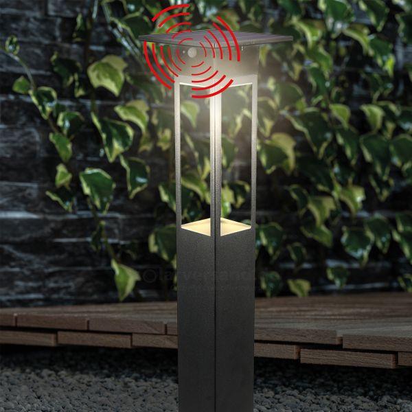 Solar Sensor-Pollerleuchte Tarano 84 cm