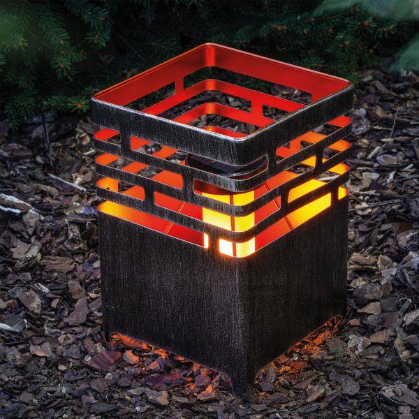 Solar Feuerschale Lagos 16 x 23 cm
