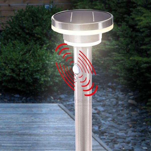 Solar-Wegelampe Modena 85 cm mit Bewegungssensor