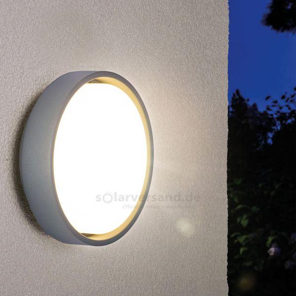 Runde LED Außenwandleuchte Salina