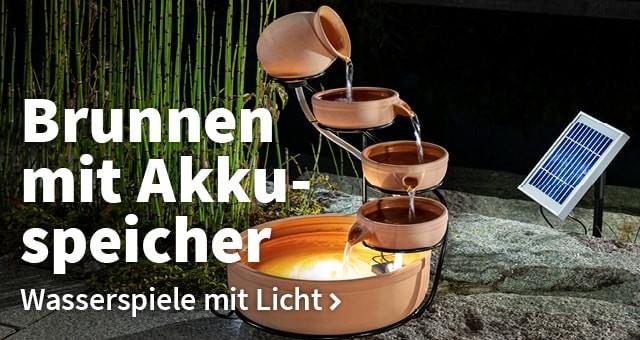 Zu den Solarbrunnen mit Akku | solarversand.de