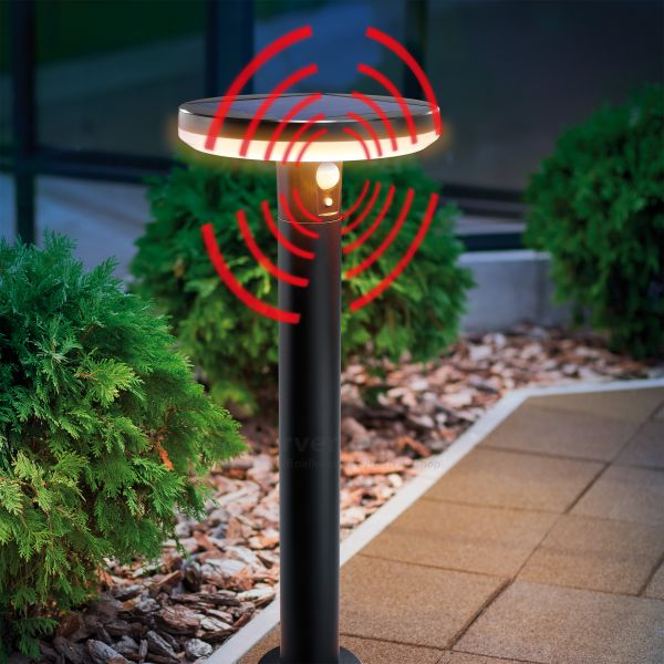 Solar LED-Standleuchte Arezzo mit Sensor