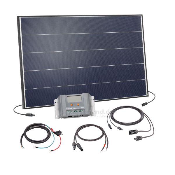 Solaranlage 125Wp 12V mit 30A Laderegler