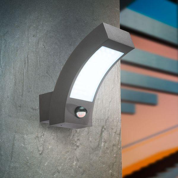 LED Außenwandleuchte Line 6000K mit Bewegungssensor