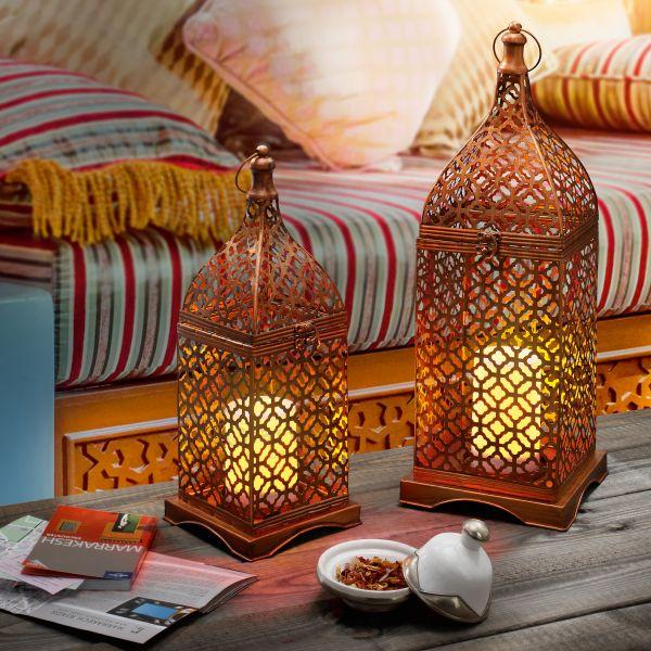 Orientalisches Laternenleuchten Set - kupferfarben