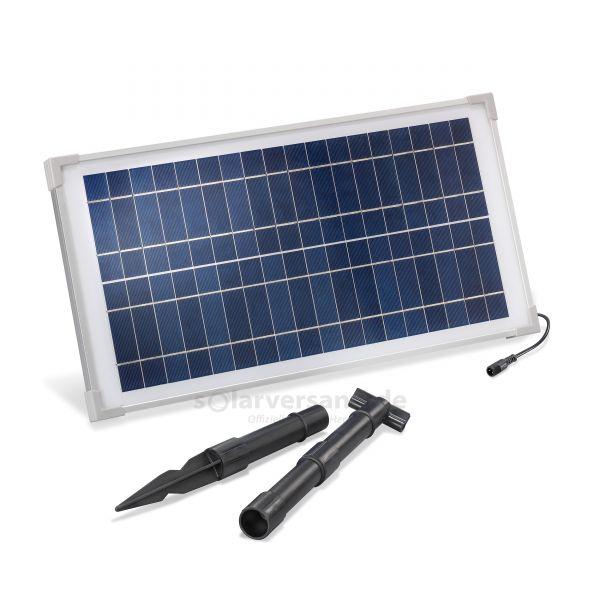 Solarmodul 15Wp 18V Stecker 2-polig klein inkl. Halterung