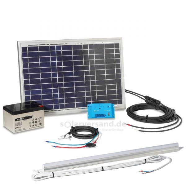 Solar Inselanlage 20 Wp mit Akku und Leuchte