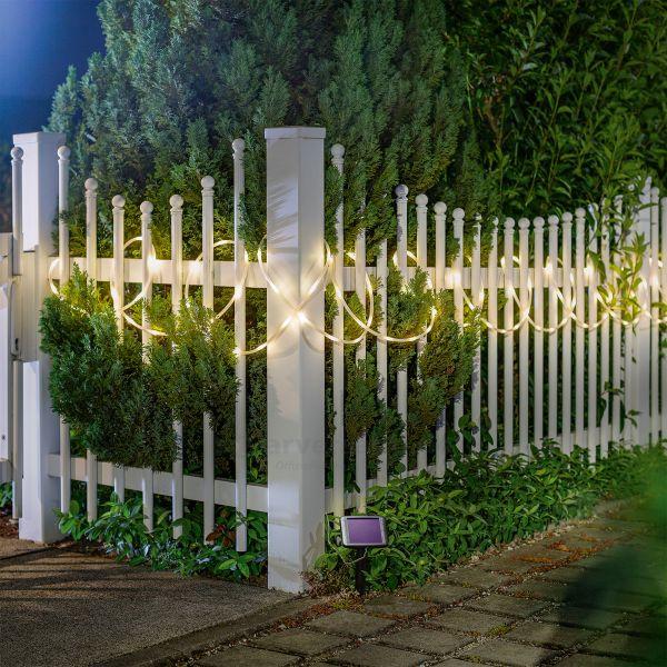 Solar Premium Lichtschlauch mit 100 LEDs warmweiß