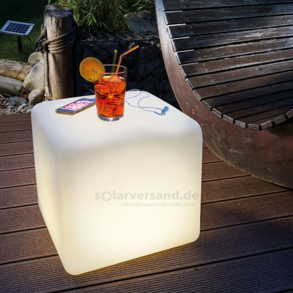 Solar Leuchtwürfel Cube 40 cm