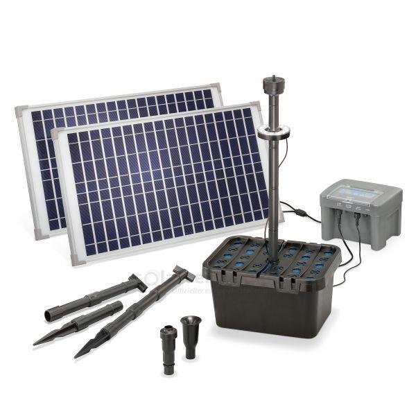 Solar Teichfilterset Profi 50/1300 LED proBatt