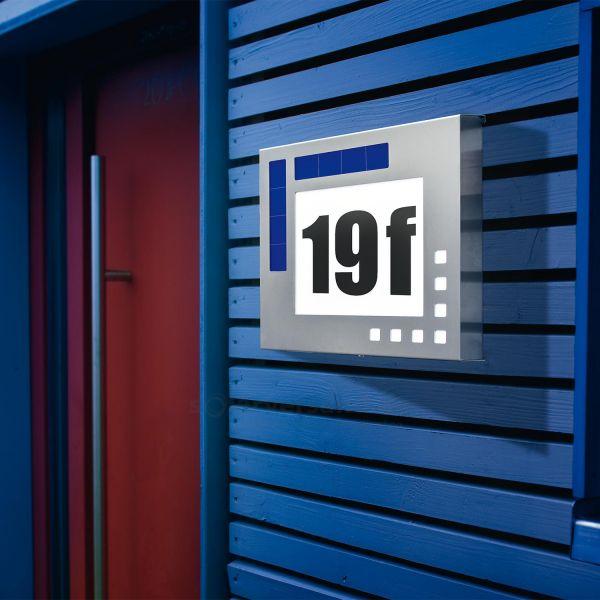 Solar Hausnummer Design