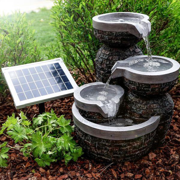 Solarbrunnen Bowl Fountain mit Akkuspeicher
