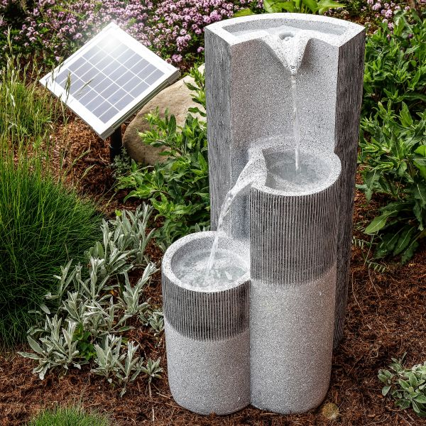Solar Garten Dekobrunnen Smart Fountain mit Akku