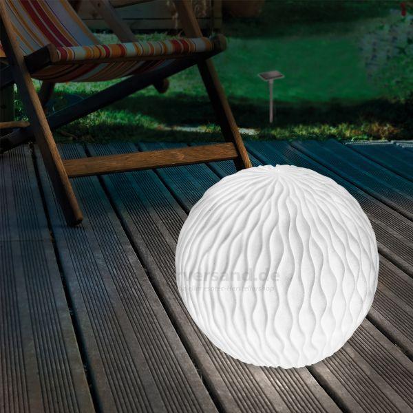 Solarkugel Wave-Ball 26 cm in Sandsteinoptik