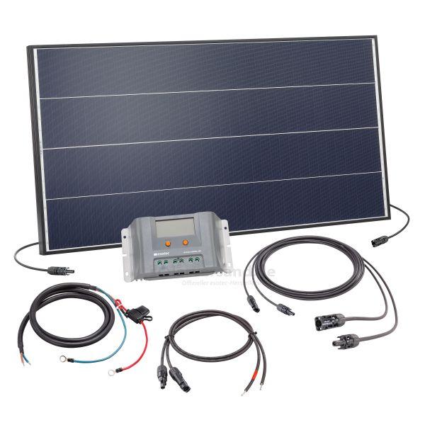 Solaranlage 100Wp 12V mit 30A Laderegler