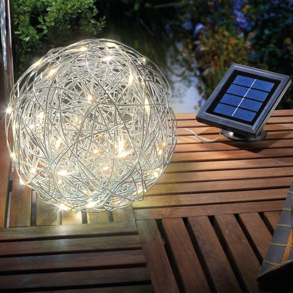 Solar Dekoleuchte Alu Wireball