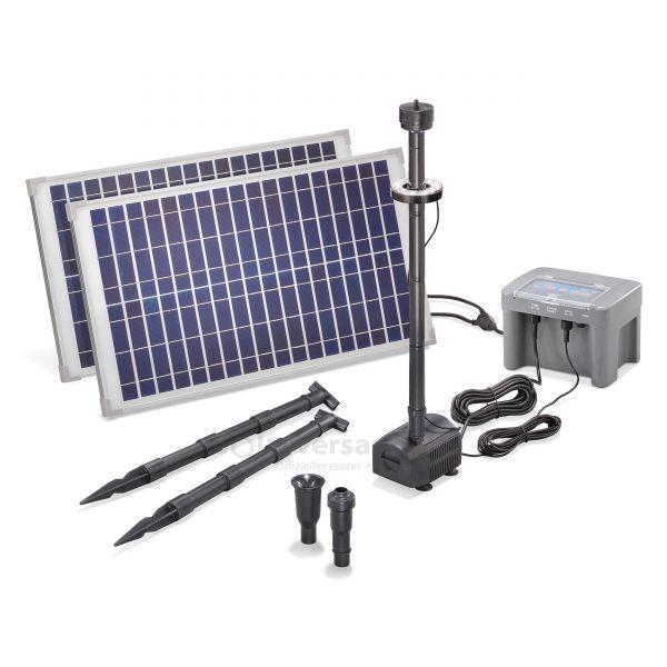 Solar Teichpumpenset 50/1300 LED Professional proBatt