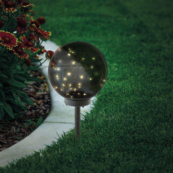 Magische Solarkugel Kyran 20 cm rauchfarben