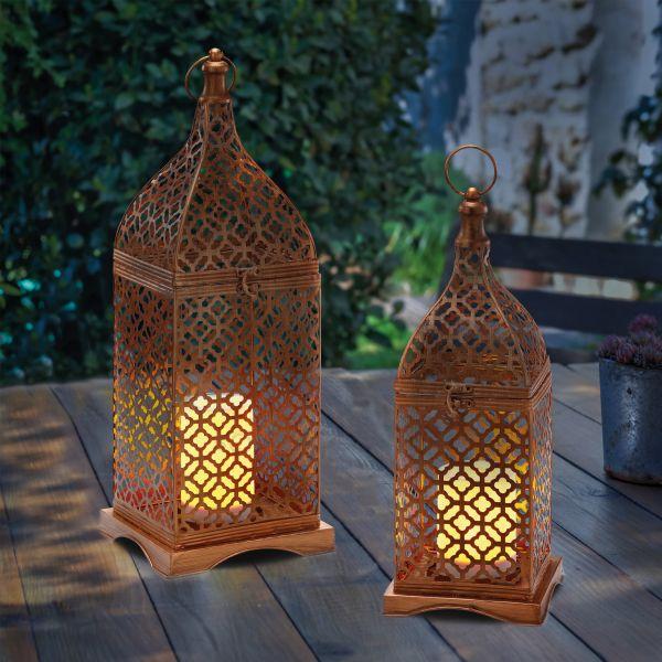 Orientalische Solar-Windlichter Marokko