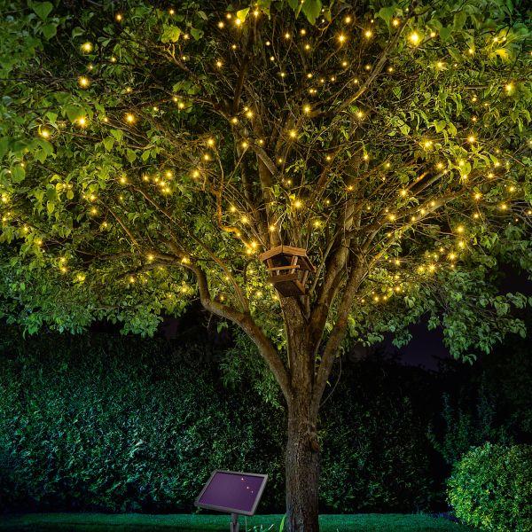 Solar Premium Lichterkette mit 200 LEDs warmweiß