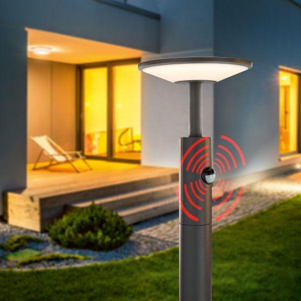LED Pollerleuchte DiscLine 100 mit Bewegungssensor