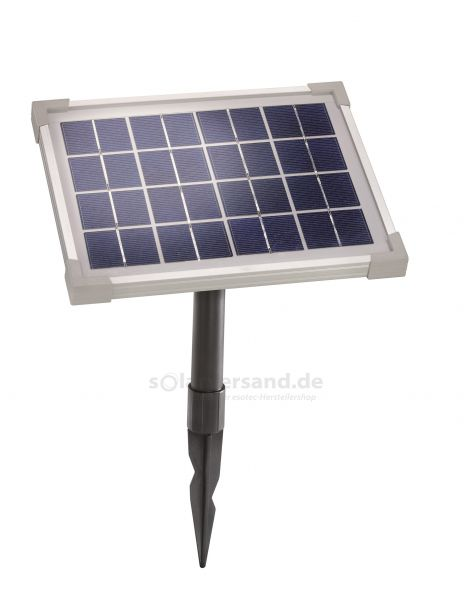Solarmodul 5Wp 8V Stecker 2-polig rund inkl. Halterung