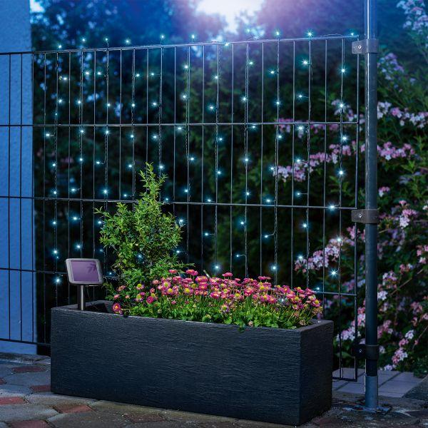 Solar Premium Lichterkette mit 100 LEDs kaltweiß