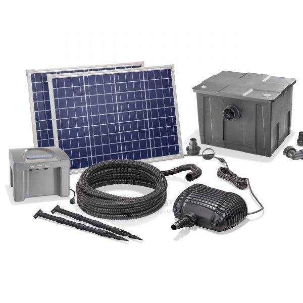 Solar Teichfilter Set Premium 2500/100 plus