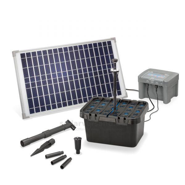 Solar Teichfilterset Profi 25/650 LED proBatt