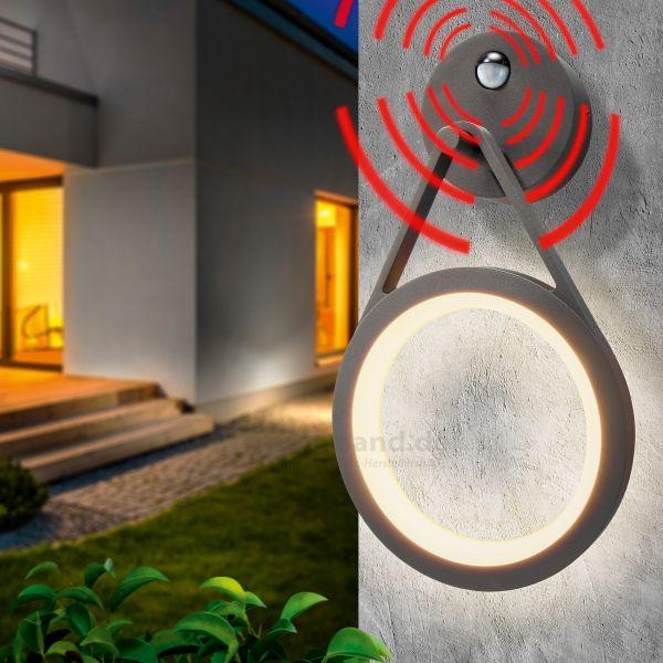 LED-Außenwandlampe RoundLine mit Bewegungsmelder