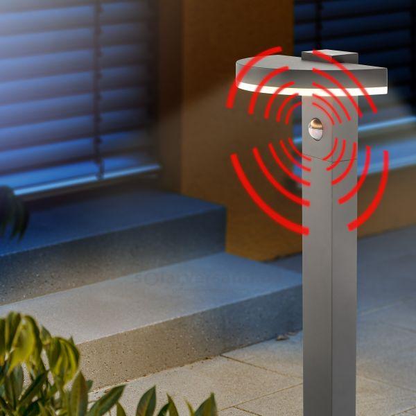 Halbrunde LED Standleuchte StudioLine mit Bewegungsmelder